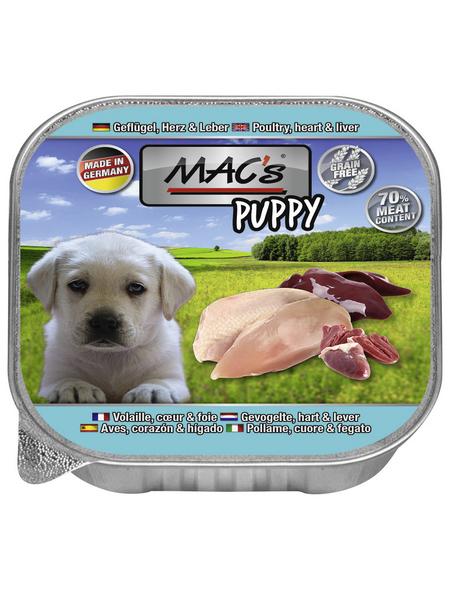 MAC'S Hunde-Nassfutter, Geflügel, 11 Schalen