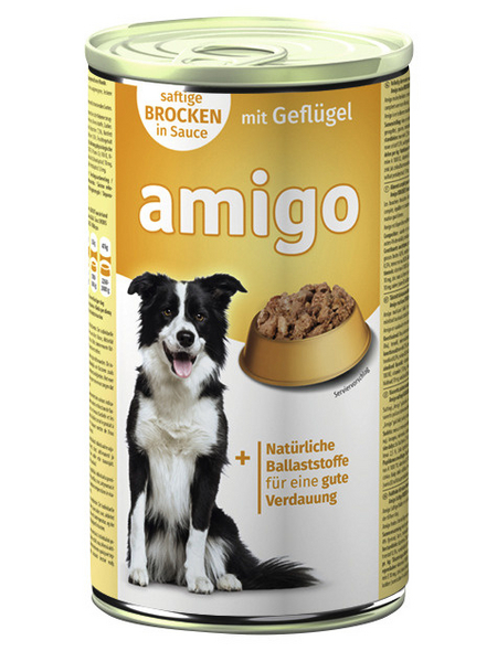 Amigo Hunde Nassfutter, Geflügel, 1240 g