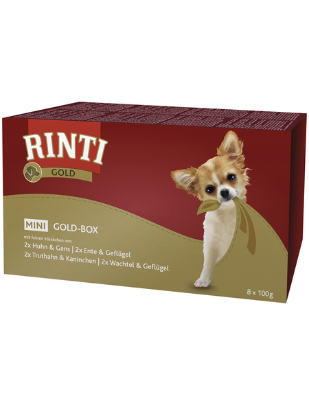 RINTI Hunde Nassfutter »Gold-Box Mini«, Mix, 4x3,2 kg
