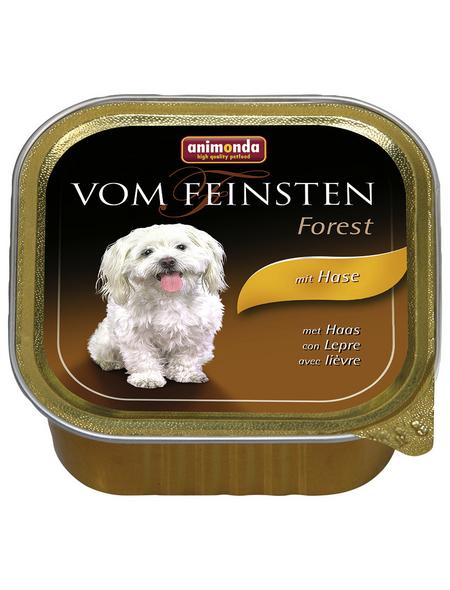 VOM FEINSTEN Hunde-Nassfutter, Hase, 150 g