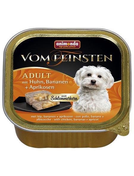 VOM FEINSTEN Hunde-Nassfutter, Huhn/Banane/Aprikose, 150 g
