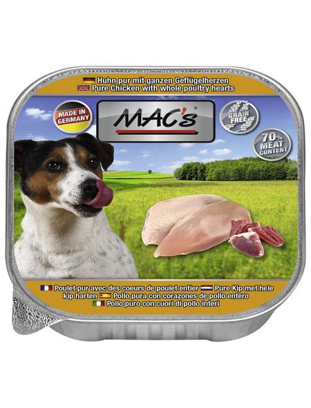 MAC'S Hunde-Nassfutter, Huhn/Herz, 11 Schalen