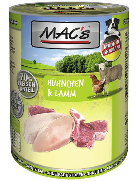 MAC'S Hunde-Nassfutter, Huhn/Lamm, 6 Dosen
