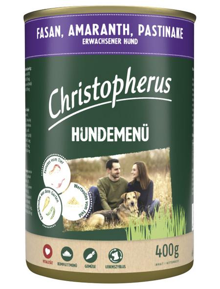 CHRISTOPHERUS Hunde-Nassfutter »Hundemenü«, Fasan, 400 g