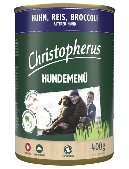 CHRISTOPHERUS Hunde-Nassfutter »Hundemenü«, Huhn, 400 g