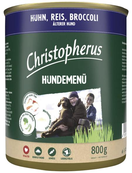 CHRISTOPHERUS Hunde-Nassfutter »Hundemenü«, Huhn, 800 g