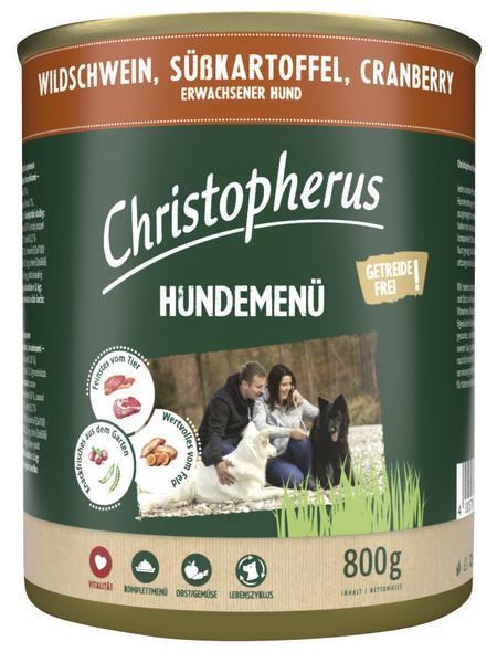 CHRISTOPHERUS Hunde-Nassfutter »Hundemenü«, WildschwEin, 800 g