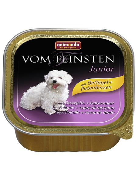 VOM FEINSTEN Hunde-Nassfutter »Junior«, Geflügel/Pute, 150 g
