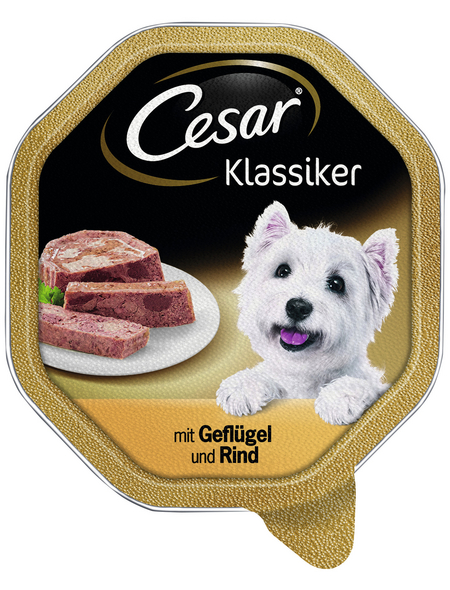 CESAR Hunde-Nassfutter »Klassiker«, Geflügel & Rind, 150 g