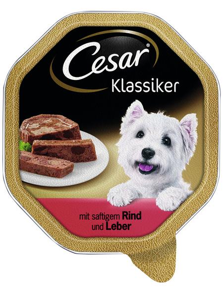 CESAR Hunde-Nassfutter »Klassiker«, Rind & Leber, 150 g