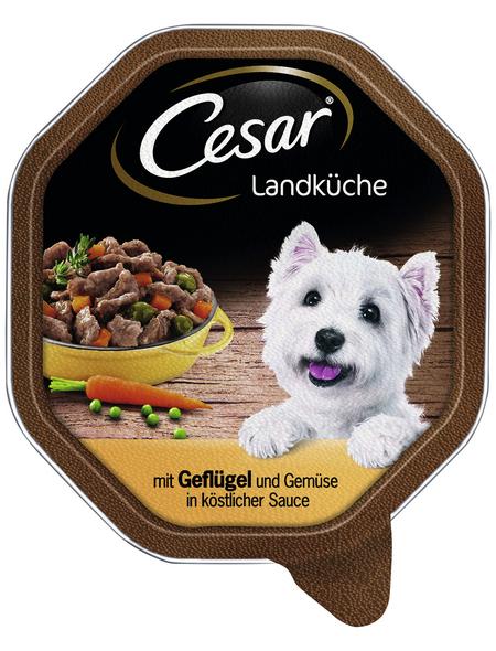 CESAR Hunde-Nassfutter »Landküche«, Geflügel/Gemüse, 150 g