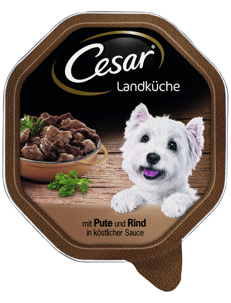 CESAR Hunde-Nassfutter »Landküche«, Pute/Rind, 150 g