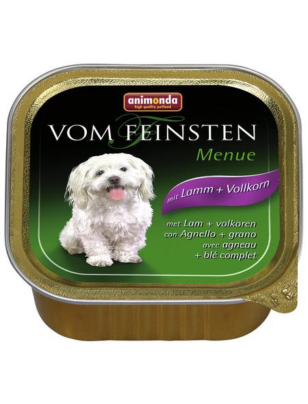 VOM FEINSTEN Hunde-Nassfutter »Menü«, Lamm/Vollkorn, 150 g