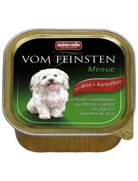 VOM FEINSTEN Hunde-Nassfutter »Menü«, Rind/Kartoffel, 150 g