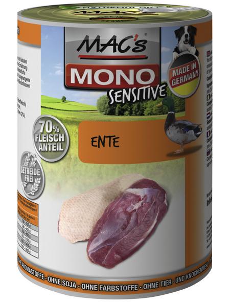 MAC'S Hunde-Nassfutter »Mono«, Ente, 6 Dosen