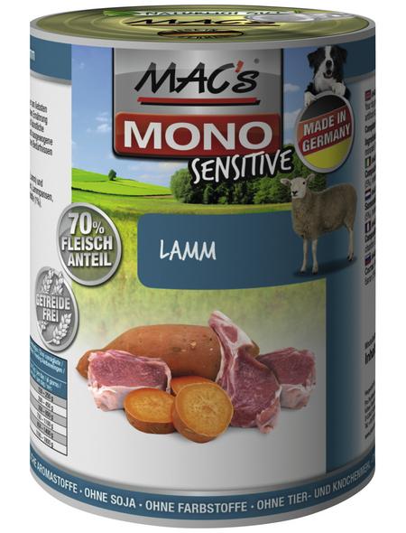 MAC'S Hunde-Nassfutter »Mono«, Lamm, 6 Dosen