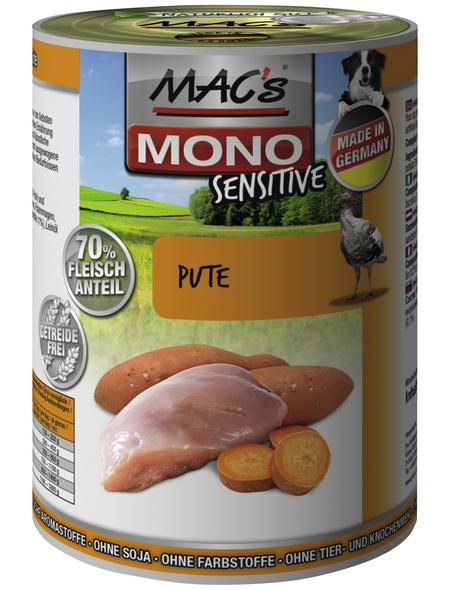 MAC'S Hunde-Nassfutter »Mono«, Pute, 6 Dosen