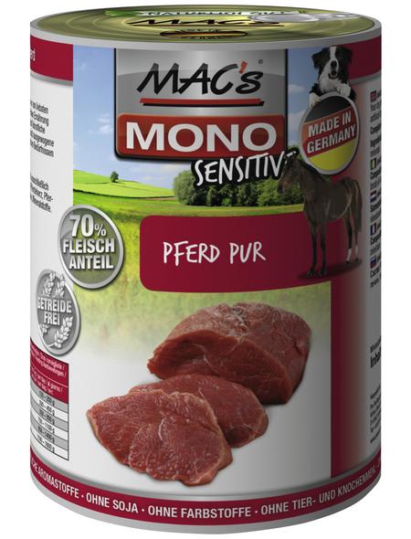 MAC'S Hunde-Nassfutter »Mono«, Ross, 6 Dosen
