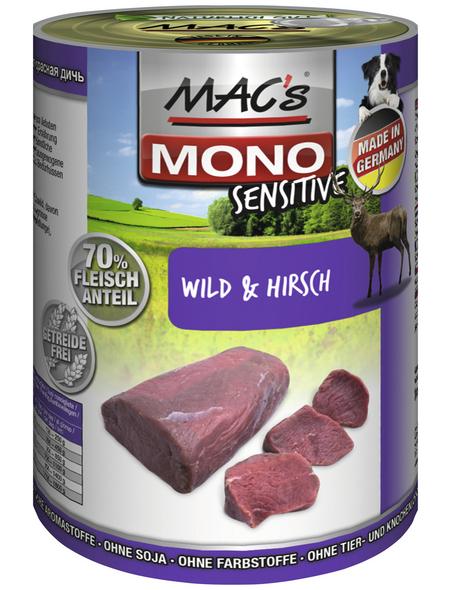 MAC'S Hunde-Nassfutter »Mono«, Wild/Hirsch, 6 Dosen
