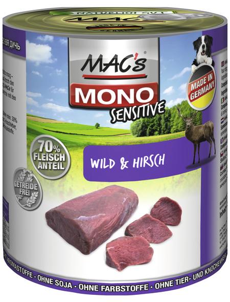 MAC'S Hunde-Nassfutter »Mono«, Wild/Huhn, 6 Dosen