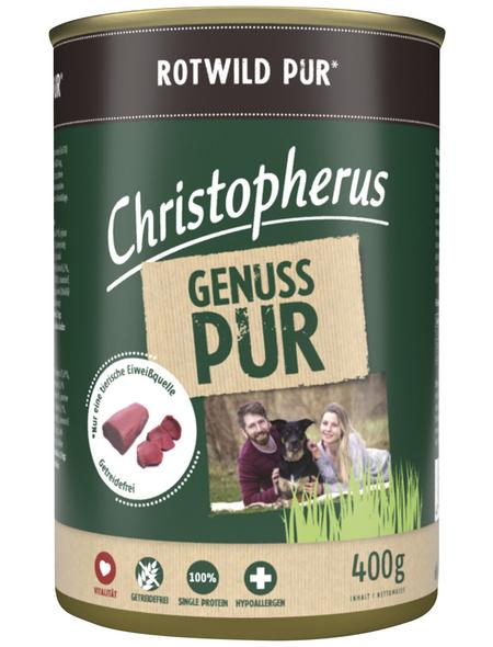 CHRISTOPHERUS Hunde-Nassfutter »Pur«, Wild, 400 g