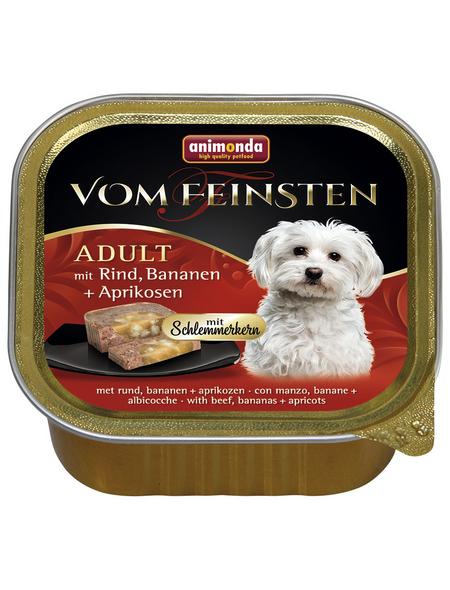 VOM FEINSTEN Hunde-Nassfutter, Rind/Banane/Aprikose, 150 g