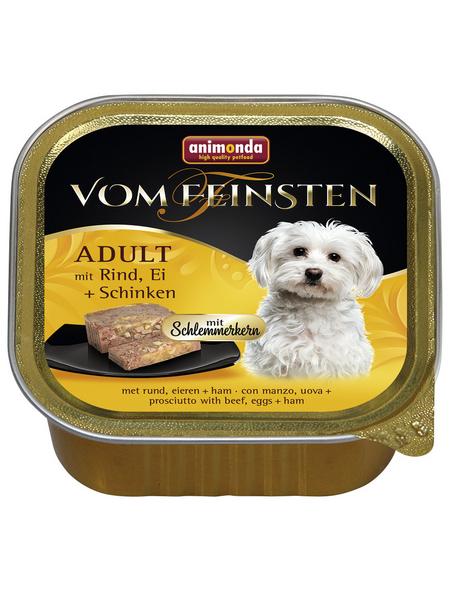 VOM FEINSTEN Hunde-Nassfutter, Rind/Ei/Schinken, 150 g