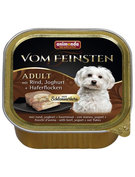 VOM FEINSTEN Hunde-Nassfutter, Rind/Joghurt/Haferflocken, 150 g