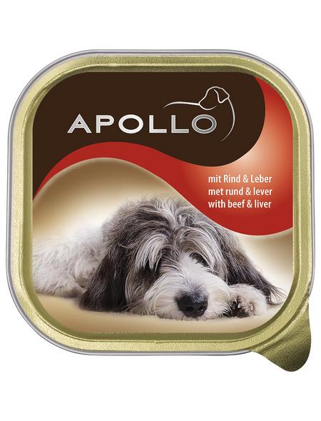 apollo Hunde Nassfutter, Rind / Leber, 22x150 g