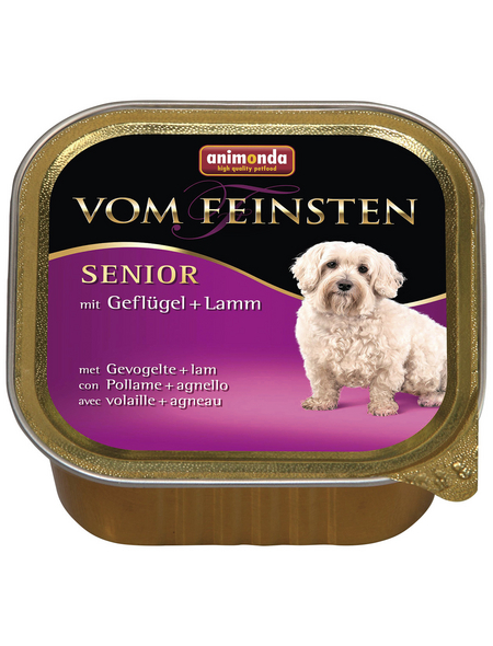 VOM FEINSTEN Hunde-Nassfutter »Senior«, Geflügel/Lamm, 150 g