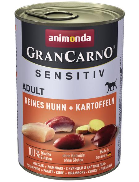 GranCarno® Hunde-Nassfutter »Sensitive«, Huhn/Kartoffel, 400 g