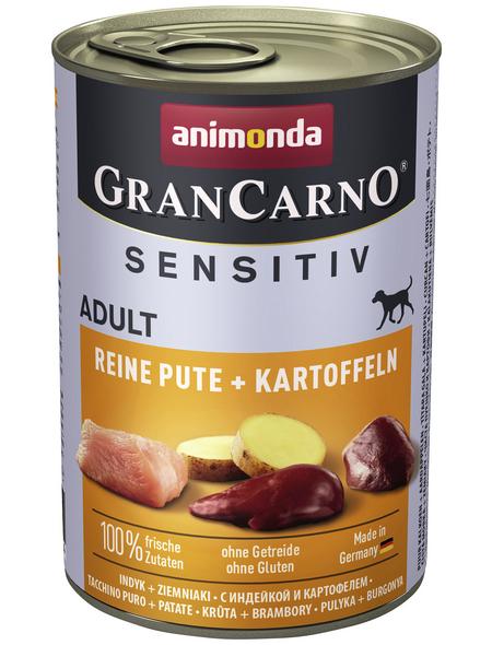 GranCarno® Hunde-Nassfutter »Sensitive«, Pute/Kartoffel, 400 g