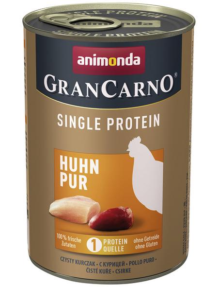 GranCarno® Hunde-Nassfutter »Single Protein«, Huhn, 400 g