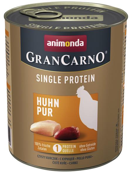 GranCarno® Hunde-Nassfutter »Single Protein«, Huhn, 800 g