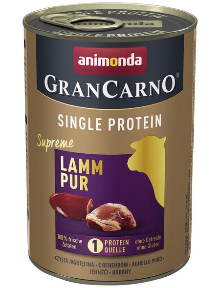 GranCarno® Hunde-Nassfutter »Single Protein«, Lamm, 400 g
