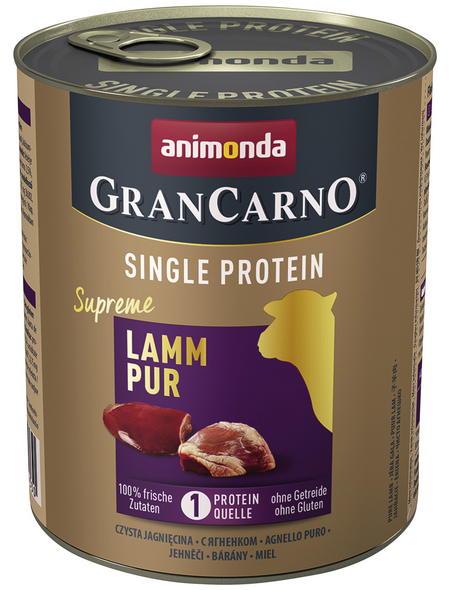 GranCarno® Hunde-Nassfutter »Single Protein«, Lamm, 800 g