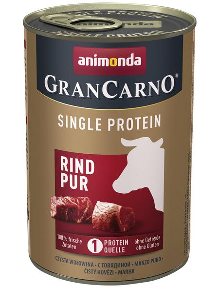 GranCarno® Hunde-Nassfutter »Single Protein«, Rind, 400 g