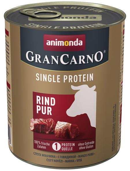 GranCarno® Hunde-Nassfutter »Single Protein«, Rind, 800 g
