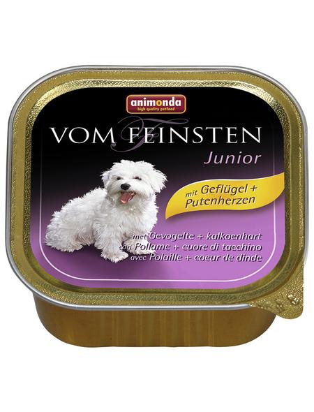 animondo Hunde Nassfutter »Vom Feinsten«, Geflügel, 22x150 g
