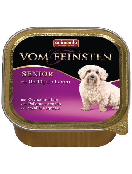 animondo Hunde Nassfutter »Vom Feinsten«, Geflügel / Lamm, 22x150 g