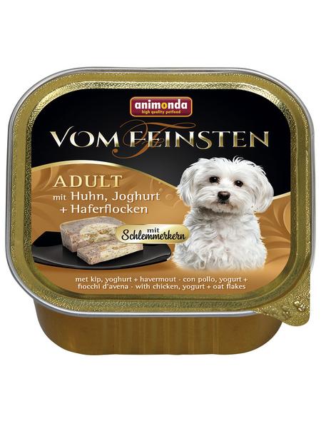 animondo Hunde Nassfutter »Vom Feinsten«, Huhn / Joghurt / Haferflocken, 22x150 g