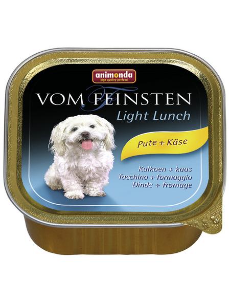 animondo Hunde Nassfutter »Vom Feinsten«, Pute / Käse, 22x150 g