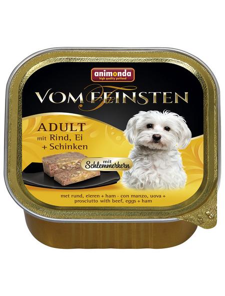 animondo Hunde Nassfutter »Vom Feinsten«, Rind / Ei / Schinken, 22x150 g