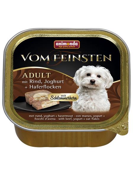 animondo Hunde Nassfutter »Vom Feinsten«, Rind / Joghurt, 22x150 g