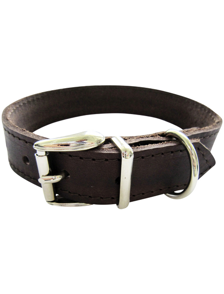 Hundehalsband, Größe: 55  cm, Rindsleder, braun