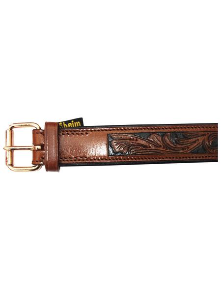 Hundehalsband, Größe: 55  cm, Rindsleder, cognacfarben