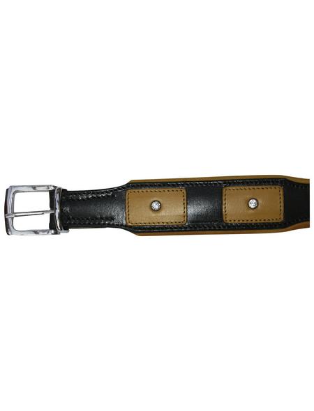 Hundehalsband, Größe: 65  cm, Rindsleder, gruen/cognacfarben