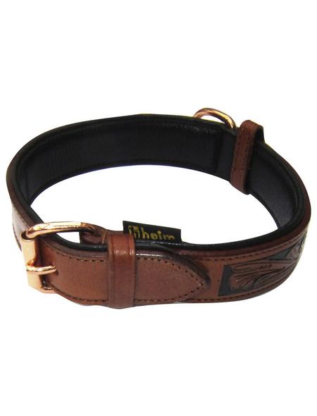 Hundehalsband, Größe: 70  cm, Rindsleder, cognacfarben