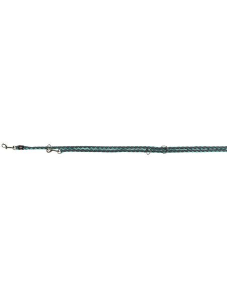 TRIXIE Hundeleine, Cavo, L–XL: 2,00 m/ø 18 mm, Gurtband, Grau | Blau
