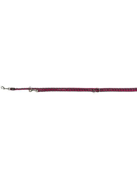 TRIXIE Hundeleine, Cavo, L–XL: 2,00 m/ø 18 mm, Gurtband, Grau   Pink